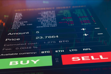 Futuristic,Stock,Exchange,Scene,With,Chart,,Numbers,And,Buy,And