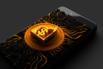 Online,Trading,,3d,Rendering,,Trading,On,A,Mobile,Phone